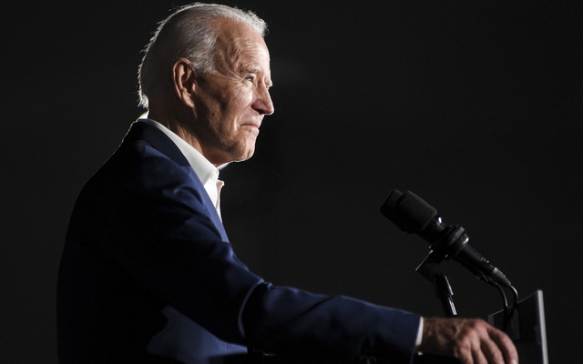FILE -- Former Vice President Joe Biden, the Democratic presumptive nominee, speaks during a campaign event at Tougaloo College in Jackson, Miss., March 8, 2020. Biden won Alaska's Democratic primary on Saturday, April 11, the first nominating contest held since Sen. Bernie Sanders dropped out of the race and made Biden the party's presumptive presidential nominee. (Courtland Wells/The New York Times)