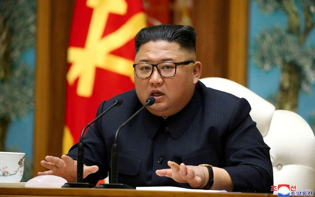 North Korean leader Kim Jong Un takes part in a meeting of the Political Bureau of the Central Committee of the Workers' Party of Korea. REUTERS