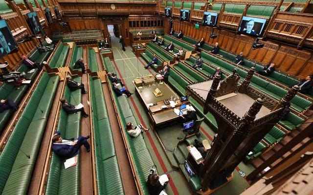 General view during the weekly question time debate at the Parliament, during the hybrid parliament session amid the coronavirus disease (COVID-19) outbreak, in London, Britain, April 22, 2020. ©UK Parliament/Jessica Taylor/Handout via REUTERS
