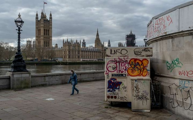 The Houses of Parliament in London, Apr 6, 2020. The New York Times