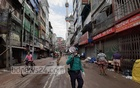 Police personnel patrolling at Dhaka's Chawkbazar to stop Iftar sellers from occupying the place to curb the spread of coronavirus infections.