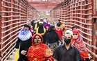 Workers return home from factories in Dhaka as the readymade garment units have reopened after a month amid the coronavirus lockdown.