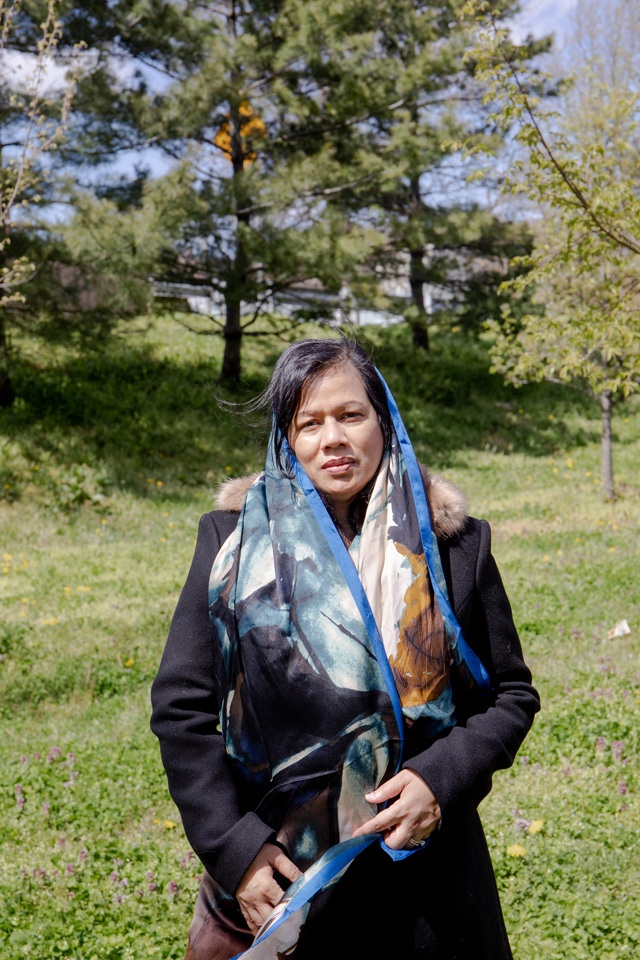 Jesmin Uddin near her home in New York, April 22, 2020. The case of Jamal Uddin, Jesmin's husband, illustrates what interviews with doctors in overburdened hospitals around the city revealed: that patients died in New York City hospitals during the COVID-19 outbreak at least in part from a sustained lack of dialysis. (Natalie Keyssar/The New York Times)