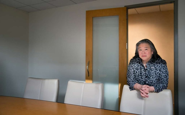 Tina Tchen, the head of Times Up Now, an organisation dedicated to combating workplace harassment, in Washington, March 14, 2018. The New York Times