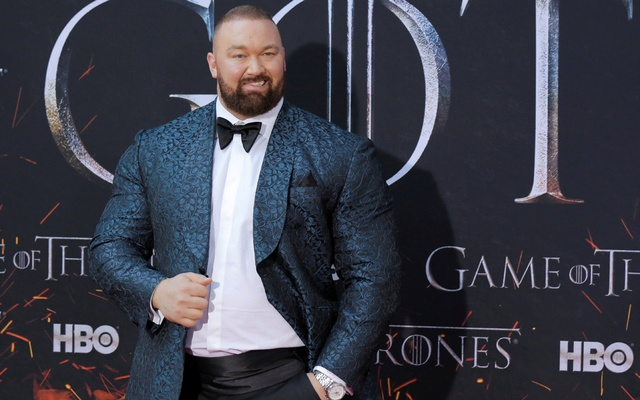 FILE PHOTO: Hafthor Julius Bjornsson arrives for the premiere of the final season of
