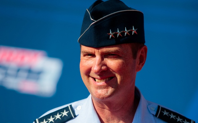 US Air Force general Joseph L Lengyel in attendance prior to the 102nd running of the Indianapolis 500 at Indianapolis Motor Speedway. USA TODAY via REUTERS