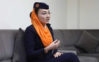 Shagufa Haidari, 23, Kam Air flight attendant speaks during an interview in Kabul, Afghanistan May 2, 2020. Picture taken May 2, 2020. REUTERS