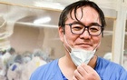 A selfie provided by Keiji Oi, a vascular surgeon in Tokyo. The New York Times