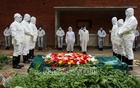 National Professor Anisuzzaman was accorded a guard of honour ahead of his burial at Dhaka's Azimpur graveyard on Friday.