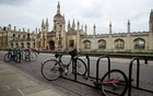 Bikes are seen outside Cambridge University, as the spread of the coronavirus disease (COVID-19) continues, Cambridge, Britain, Apr 1, 2020. REUTERS