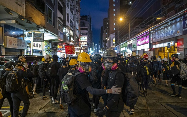 FILE -- Protesters outside the Mong Kok police station in Hong Kong, Aug. 17, 2019. China is moving to impose new national security laws that would give the Communist Party more authority in Hong Kong, a proposal announced on May 21, 2020. (Lam Yik Fei/The New York Times)