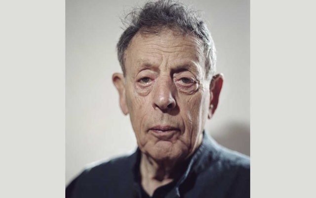 "The composer Philip Glass in New York on Oct 30, 2019. The final manuscript for Glass's 1970 work ""Music in Eight Parts"" — performed just a handful of times and later thought lost before it resurfaced at an auction in late 2017 — has now been realised anew by his ensemble, and released on a recording by Orange Mountain Music. The New York Times"