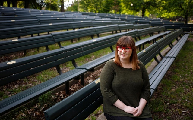 Lydia Burns, a recent University of Louisville graduate whose internship was called off, in Louisville, Ky, May 7, 2020. Like so much else, summer internships have been upended by the pandemic, with hundreds of companies cancelling their programs and rescinding offers. (Luke Sharrett/The New York Times)