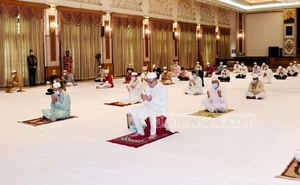 The president offered Eid-ul-Fitr prayers at the Bangabhaban this year.