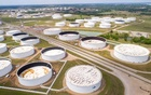 Crude oil storage tanks are seen in an aerial photograph at the Cushing oil hub in Cushing, Oklahoma, US April 21, 2020. REUTERS