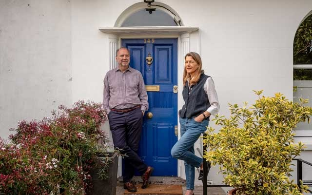 Dr Peter Piot, the director of the London School of Hygiene and Tropical Medicine, with his wife, Dr Heidi Larson, an anthropologist and director of the school's Vaccine Confidence Project, at home in London on May 7, 2020. The New York Times