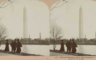 In a photo from the Library of Congress, a stereograph of the Washington Monument in 1901. The monument's height, for now, is 555 feet. The New York Times