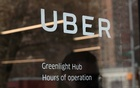 The entrance sign to the Uber Greenlight Hub is seen in the Brooklyn borough of New York, US, Apr 12, 2019. REUTERS