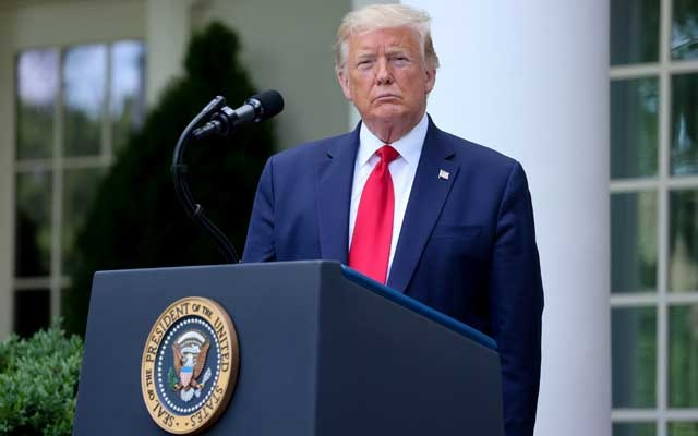 US President Donald Trump speaks about negotiations with pharmaceutical companies over the cost of insulin for US seniors on Medicare at an event in the Rose Garden at the White House during the coronavirus disease (COVID-19) outbreak in Washington, US, May 26, 2020. REUTERS
