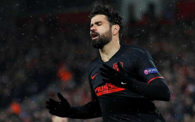 Champions League - Round of 16 Second Leg - Liverpool v Atletico Madrid - Anfield, Liverpool, Britain - March 11, 2020 Atletico Madrid's Diego Costa reacts after a missed chance REUTERS/Phil Noble/Files