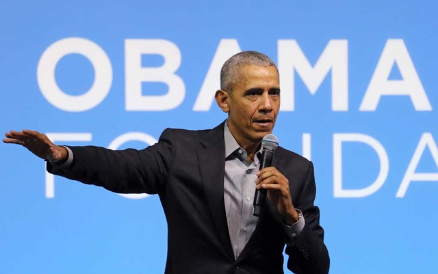 Former US President Barack Obama speaks during an Obama Foundation event in Kuala Lumpur, Malaysia, December 13, 2019. REUTERS