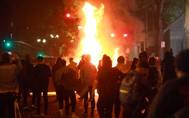 Protesters in Oakland, Calif, May 29, 2020. The New York Times