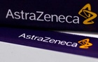 FILE PHOTO: The logo of AstraZeneca is seen on medication packages in a pharmacy in London, April 28, 2014. Reuters