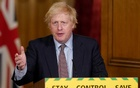 Britain's Prime Minister Boris Johnson speaks during a daily briefing to update on the coronavirus disease (COVID-19) outbreak, at 10 Downing Street in London, Britain Jun 3, 2020. REUTERS