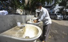 The authorities have set up sinks for handwashing outside the Dhaka Medical College Hospital amid the coronavirus outbreak but there is no soap. Photo: Asif Mahmud Ove
