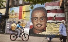 A mural of Amadou Diallo, who was fatally shot by the police in the Bronx in 1999, has been a fixture on Wheeler Avenue since 2001, though the image was redone in 2017, in New York on June 3, 2020. The New York Times