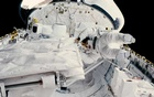 In an image provided by NASA, Kathy Sullivan during a space walk from the shuttle Challenger in 1984. The New York Times