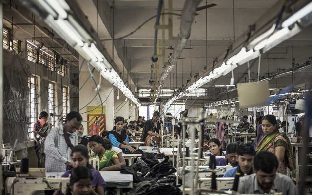 Women working in a textile factory in Bangalore, India, Jun 20, 2016. India's women were already dropping out of the labour force. Coronavirus restrictions — and one of the worst economic slumps in decades — threaten even more losses for them. The New York Times