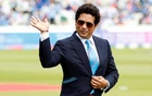 Sachin Tendulkar on the pitch before the match. Reuters/file