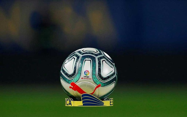 Football - La Liga Santander - VIllarreal v Atletico Madrid - Estadio de la Ceramica, Villarreal, Spain - December 6, 2019 General view of the match ball before the match REUTERS/Albert Gea/File Photo