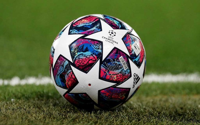 Champions League - Round of 16 Second Leg - Liverpool v Atletico Madrid - Anfield, Liverpool, Britain - March 11, 2020 General view of a match ball on the pitch before the match REUTERS/Phil Noble