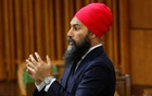 FILE PHOTO: Canada's New Democratic Party leader Jagmeet Singh speaks during a meeting of the special committee on the COVID-19 outbreak in the House of Commons on Parliament Hill in Ottawa, Ontario, Canada May 20, 2020. REUTERS/Blair Gable/File Photo
