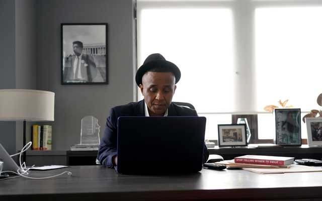 Rashad Robinson at the Colour of Change offices in New York, Feb. 2, 2020. The New York Times