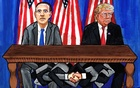 Mark Zuckerberg has forged an uneasy alliance with the Trump administration, and he may have gotten too close, columnist Ben Smith writes. (Brandon Celi/The New York Times)