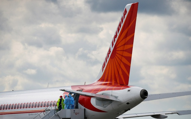 An Air India Airbus A320 plane is seen at the Boryspil International Airport upon arrival, amid the coronavirus disease (COVID-19) outbreak outside Kiev, Ukraine May 26, 2020. REUTERS