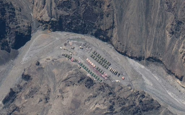 Maxar WorldView-3 satellite image shows the PLA (China's People's Liberation Army) Base in Galwan Valley May 22, 2020. Maxar Technologies via REUTERS