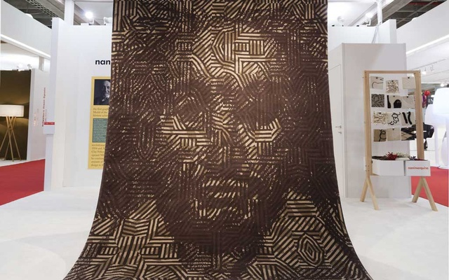Shakespeare in Africa carpet by Milton Glaser for Nanimarquina on display during the 25th International Contemporary Furniture Fair in New York, May 19, 2013. The fair, which ended Tuesday, showed that design is all over the map, its contours muddled and its direction uncertain. Robert Wright/The New York Times