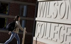FILE PHOTO: A student walks toward Princeton University's Wilson College in Princeton, New Jersey, November 20, 2015. REUTERS/Dominick Reuters