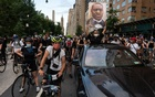 Protesters marched through Columbus Circle in Manhattan on Juneteenth. Diana Zeyneb Alhindawi for The New York Times