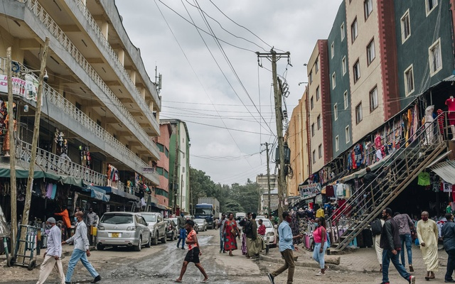 A busy street in Nairobi, Kenya, this month. About 170 million of Africa's 1.3 billion people are classified as middle class. Khadija Farah for The New York Times