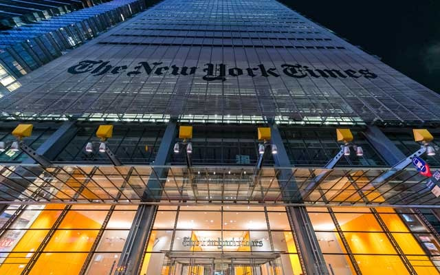 Digital revenue exceeds print for 1st time for New York Times Company