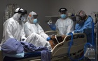 Medical workers prepare to intubate a coronavirus disease (COVID-19) patient at the United Memorial Medical Centre's coronavirus disease (COVID-19) intensive care unit in Houston, Texas, US, June 29, 2020. REUTERS