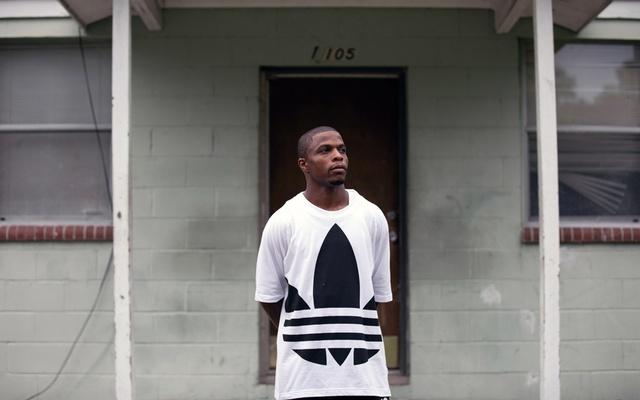 Kelvin Pittman II outside his home in Jacksonville, Fla, on Jun 30, 2020. Pittman says he voted for Donald Trump in 2016 because