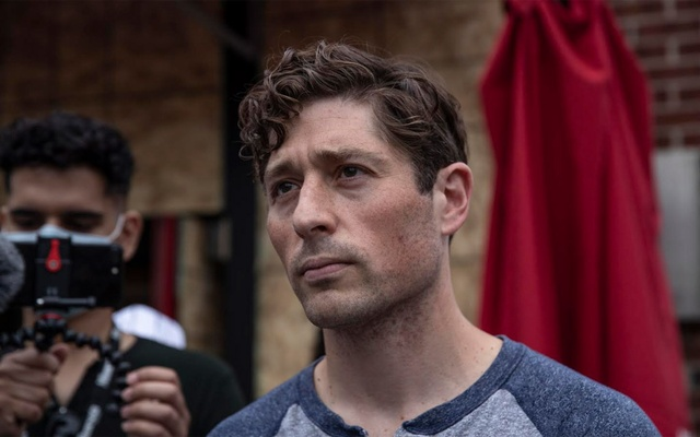 FILE - Minneapolis Mayor Jacob Frey addresses protesters at a Defund the Police march to protest the killing of George Floyd, a Black man who died in police custody, in Minneapolis, June 6, 2020. (Victor J. Blue/The New York Times)