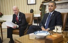 FILE — Joe Biden, who initially declined President Barack Obama's request to vet him for the vice presidency, with Obama at the White House in Washington, Dec. 16, 2013. (Gabriella Demczuk/The New York Times)