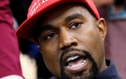FILE PHOTO: Rapper Kanye West speaks during a meeting with U.S. President Donald Trump to discuss criminal justice reform in the Oval Office of the White House in Washington, U.S., October 11, 2018. REUTERS